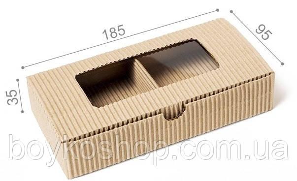 Коробка Натуральная с окном 35*185*95 мм