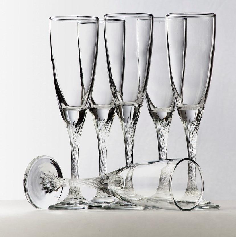 Набор бокалов для шампанского Pasabahce Twist 175 мл 6 шт