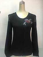 Кофта женская Gimalaier на пуговицах чёрная, фото 1