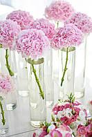 """Цветочная композиция на столы гостей """"Стеклянная ваза тубус с цветком"""", фото 1"""