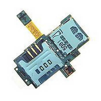 Коннектор Sim and MMC Samsung (самсунг) i9000 Galaxy S1 на шлейфе, фото 2