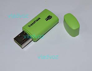 Картридер Card reader карт ридер переходник Micro SD USB TransFlash зелёный, фото 2