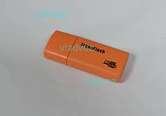 Картридер переходник Micro SD USB TransFlash оранжевый