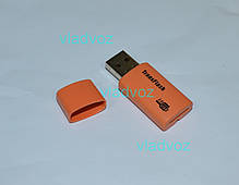 Картридер Card reader карт ридер переходник Micro SD USB TransFlash оранжевый, фото 3