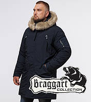 Braggart - Arctic 13475 | Парка зимняя мужская т-синяя