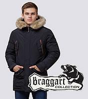 Braggart - Arctic 37560 | Парка зимняя мужская черная, фото 1