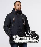 Braggart - Arctic 43015 | Зимняя парка мужская черно-синяя, фото 1