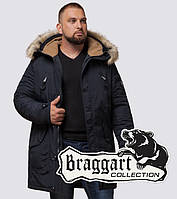 Braggart - Arctic 91660 | Парка зимняя мужская черно-синяя, фото 1