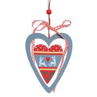 """Елочное украшение Jumi """"Сердце"""", дерево, 11 см"""