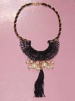 Ожерелье, плетение и бусы 000762