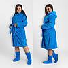 Махровый халат с сапожками батал