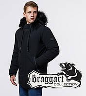 Braggart 'Black Diamond' 9985 | Куртка мужская черная, фото 1