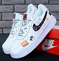 f038930aa16f Мужские кроссовки в стиле Nike Air Force 1 Low Just Do It Pack White