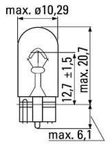 Лед лампа в габарит SLS LED, с обманкой Can шины, цоколь W5W(T10) 6 светодиодов в силиконе 12 В. Белый, фото 3