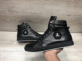 Мужские кожаные зимние ботинки Jolly Roger