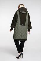 Пальто женское осень-зима теплое длинное с каракулем размеры большие от 58 до 68, фото 3