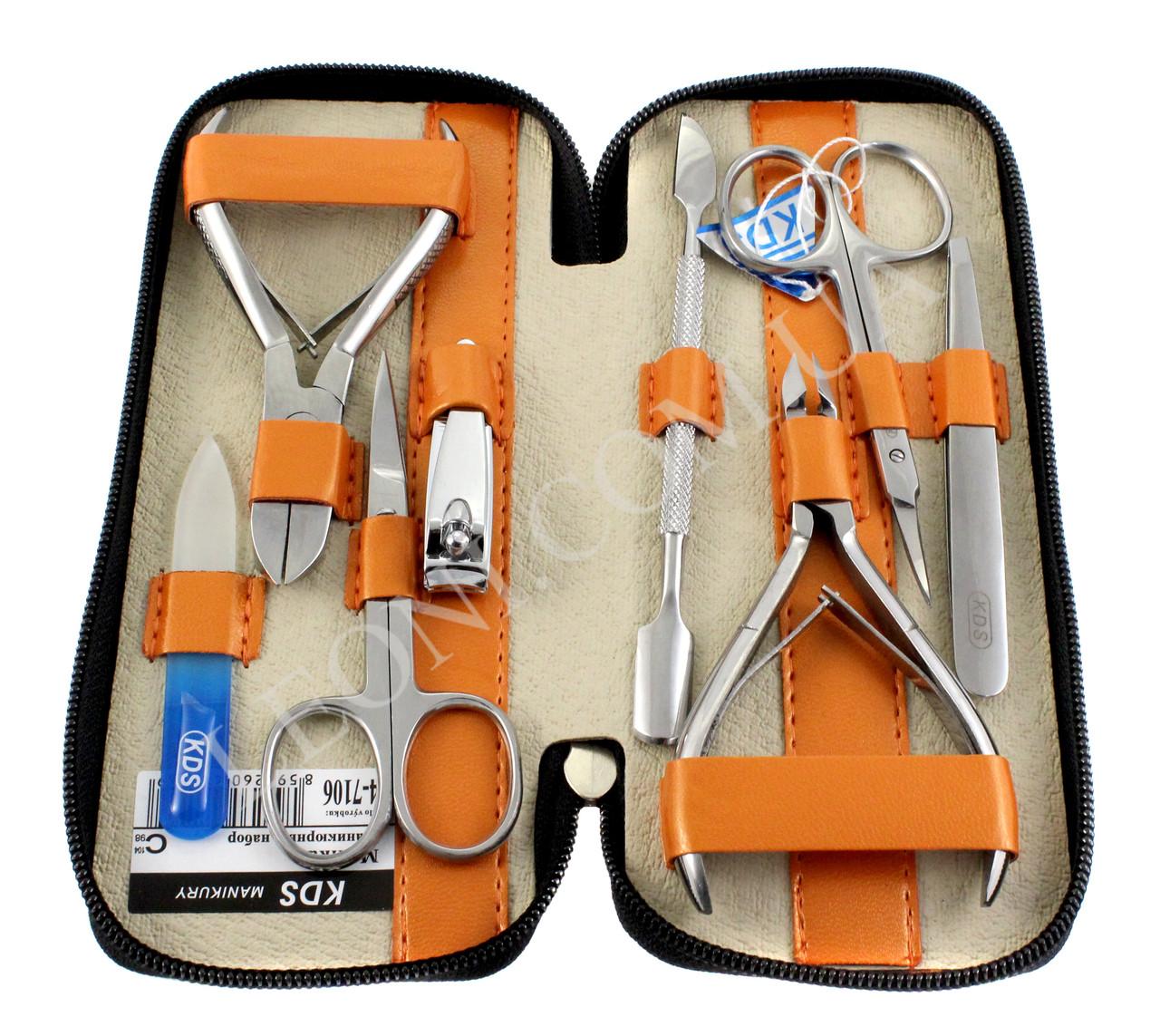Набор маникюрный KDS 04-7106 (Оранжевый)