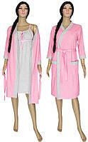 NEW! Женские комплекты - ночная рубашка и халат серии Amarant Soft Light Pink ТМ УКРТРИКОТАЖ!