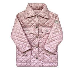 Куртка розовая Andriana Kids для девочки от 1 до 4 лет