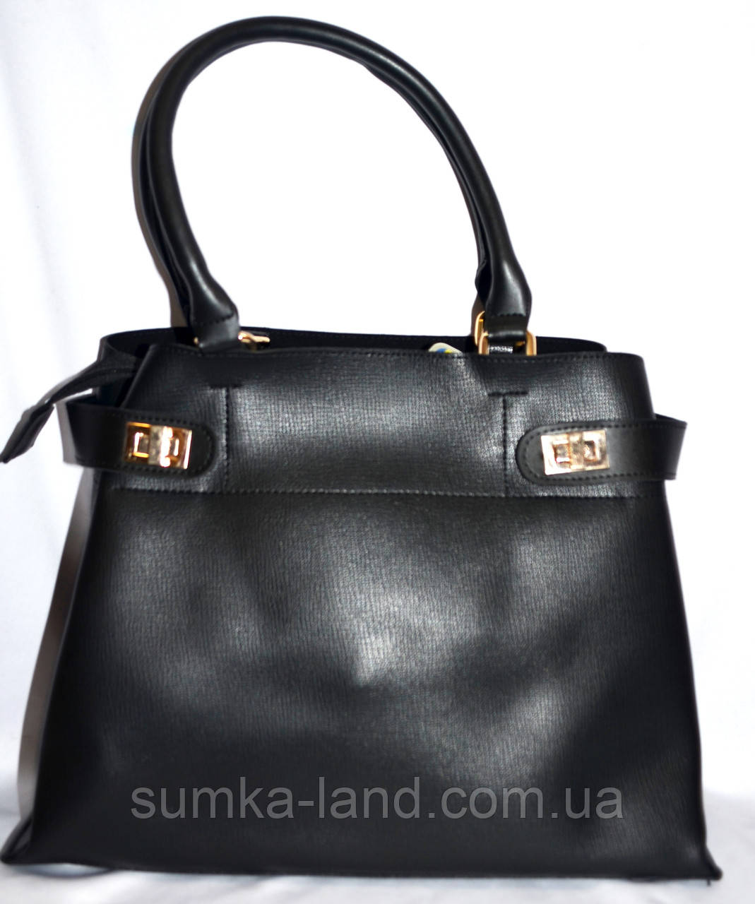 Женская черная сумка класса Люкс 35*26 см