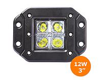 Протитуманки LED 12 Вт , Cree ,  Врізні , 5000К , Задній хід