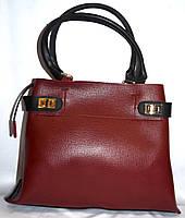 Женская бордовая сумка класса Люкс 35*26 см , фото 1