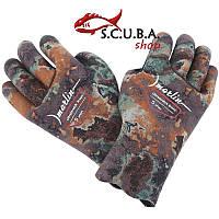 Перчатки для подводной охоты Marlin ULTRASTRETCH BROWN 5mm, sheico  неопрен супурстрейч, фото 1