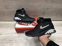 Мужские кожаные зимние ботинкиNike Air, фото 1