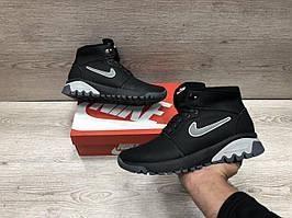 Мужские кожаные зимние ботинкиNike Air