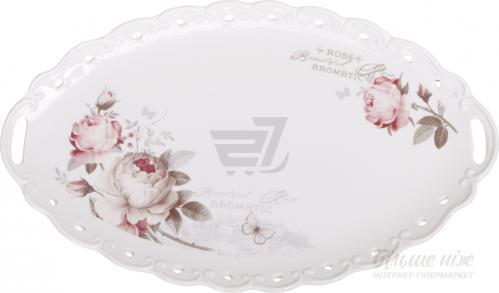 Блюдо овальное Flower 39 см 8779W15 Fiora
