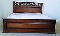 Деревяне ліжко Лорен горіх, фото 1