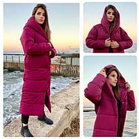 Пальто зима, артикул 521, цвет марсала
