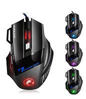Игровая мышь мишка USB 2400DPI мышка компьютерная оптическая черная LED windows X7 Imice