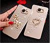 "LG G7 ThinQ оригинальный чехол накладка бампер панель со стразами камнями на телефон ""MHDM"", фото 3"
