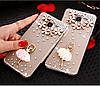 "LG V35 ThinQ оригинальный чехол накладка бампер панель со стразами камнями на телефон ""MHDM"", фото 5"