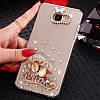 "LG V35 ThinQ оригинальный чехол накладка бампер панель со стразами камнями на телефон ""MHDM"", фото 10"