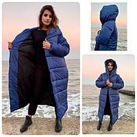 Пальто зима, артикул 521, цвет синий