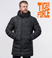 Tiger Force 70118 | Мужская теплая куртка черная, фото 1