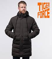 Tiger Force 58015 | Зимняя теплая куртка кофе, фото 1