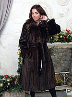 Длинная норковая шуба коллекция 52 50 54 размеры, фото 1