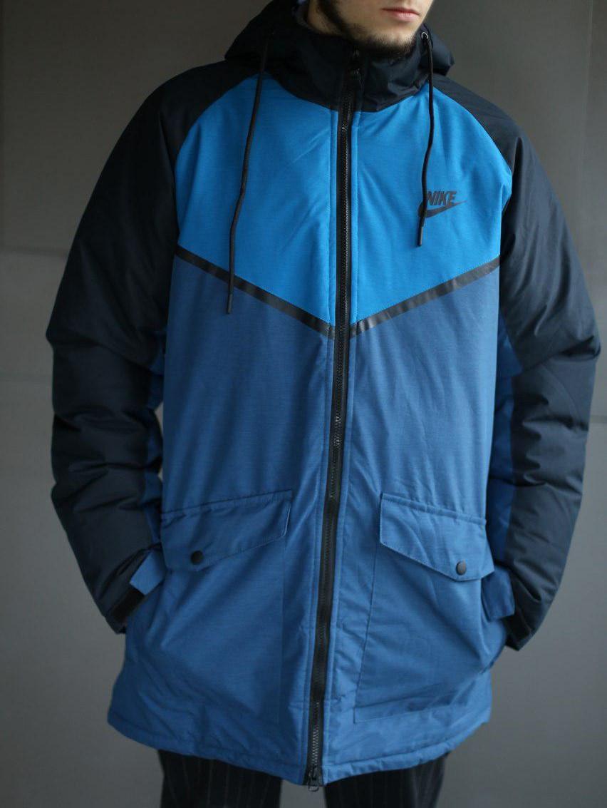Мужская зимняя куртка в стиле Nike удлиненная