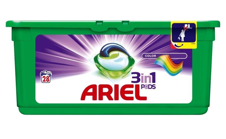 Капсулы для стирки Ariel 3 в 1 Color 28 шт.