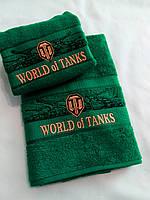 """Полотенце с логотипом """"World of Tanks"""" (70*140 банное)"""
