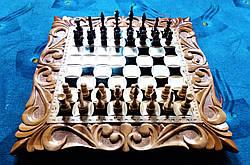 Шахматы резные ручной работы, фото 2