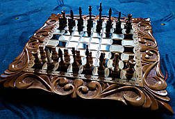 Шахматы резные ручной работы, фото 3