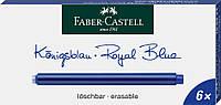 Картриджи Faber-Castell для перьевых ручек удлиненные синие 6 шт, 185524