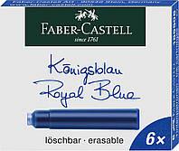 Картриджи Faber-Castell для перьевых ручек стандартные синие 6 шт, 185506