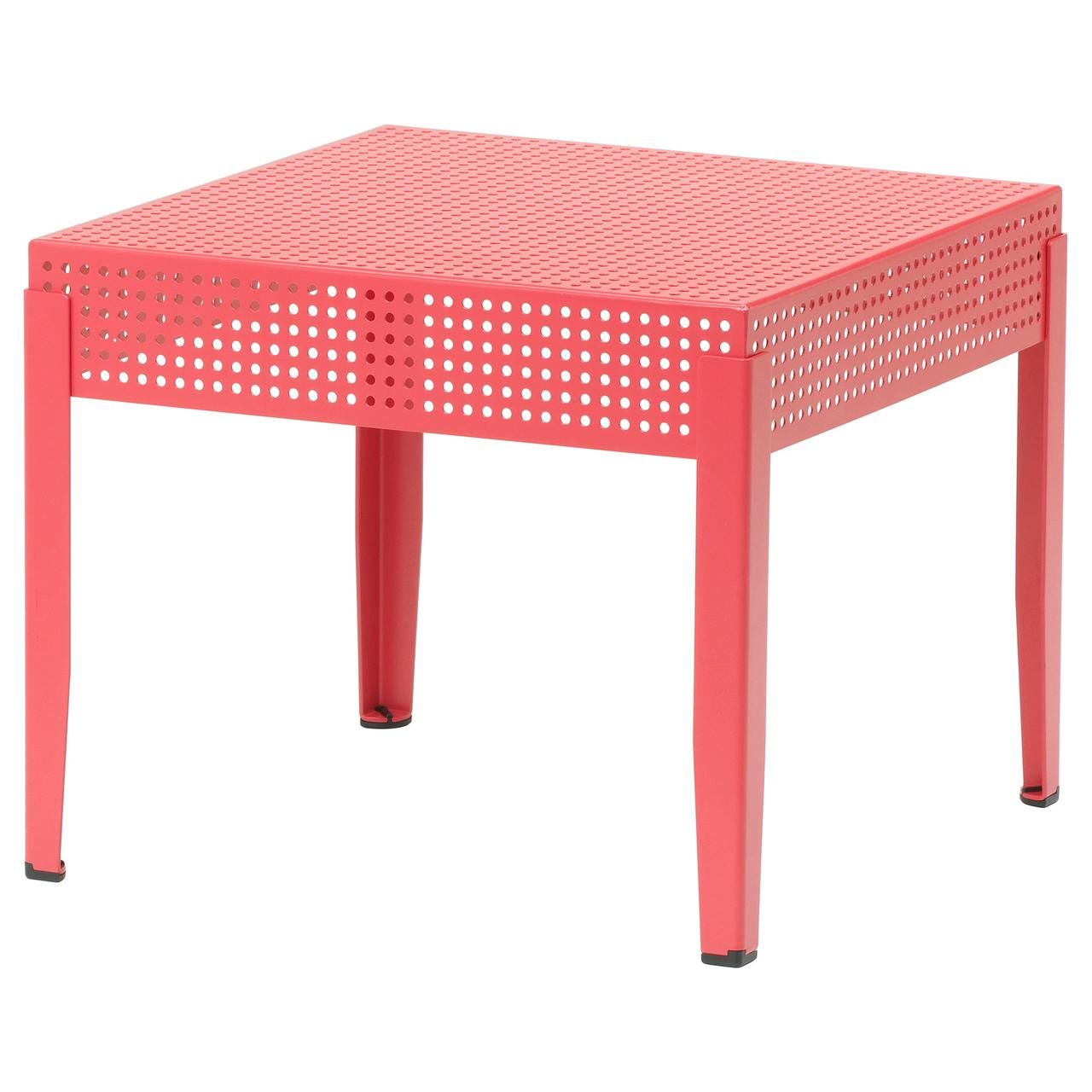 Столик IKEA SJÄLVSTÄNDIG 51x51 см розовый 504.149.36