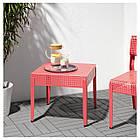 Столик IKEA SJÄLVSTÄNDIG 51x51 см розовый 504.149.36, фото 3