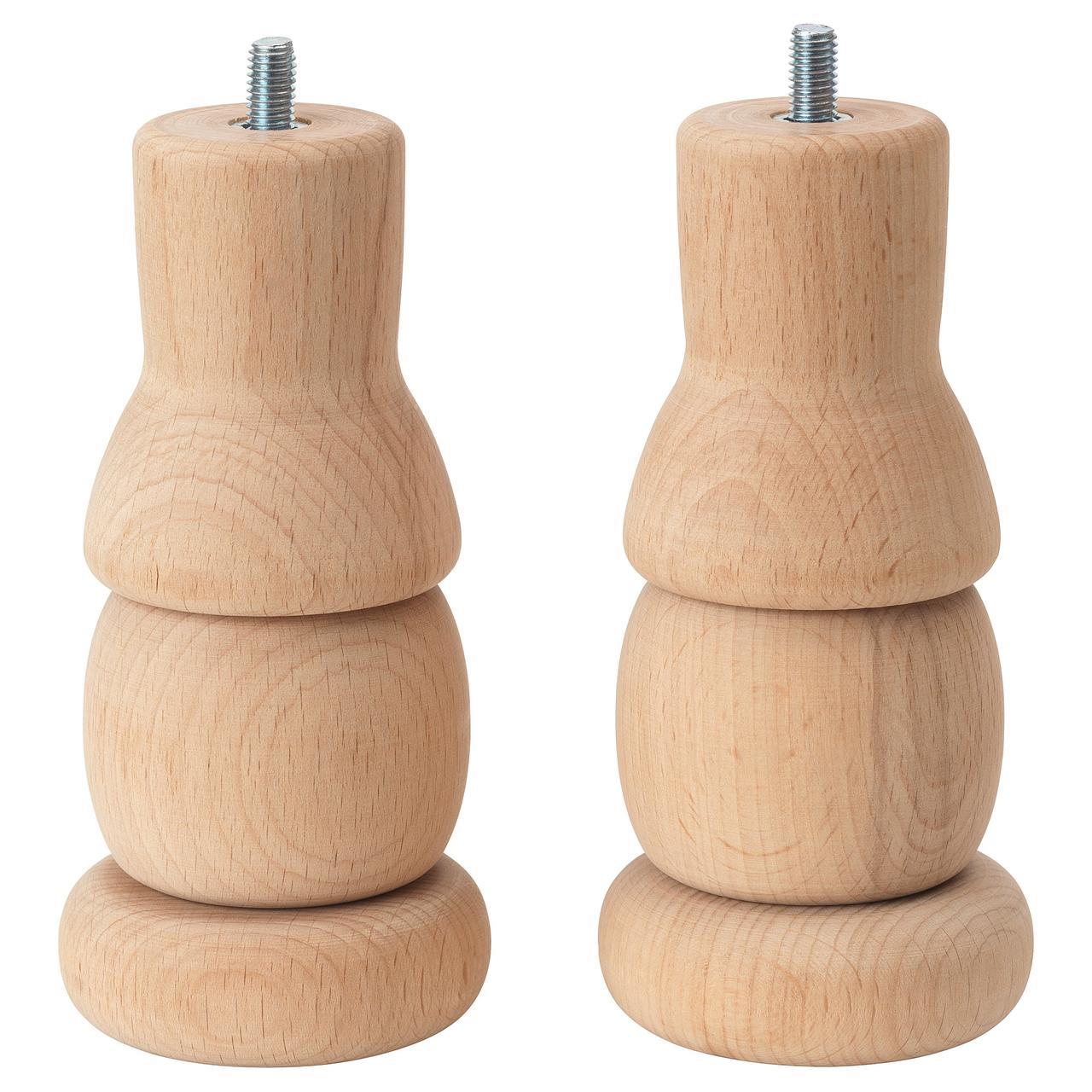Дополнительные ножки IKEA SJÄLVSTÄNDIG 15 см 2 шт бук 704.148.17